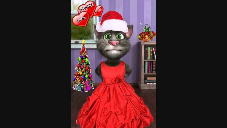 Gato Tom cantando villancicos feliz navidad canción infantil para niños ...