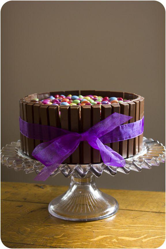 Cupcake Crazy Gem!: The Smarties & Kit Kat Double Chocolate Birthday Cake!