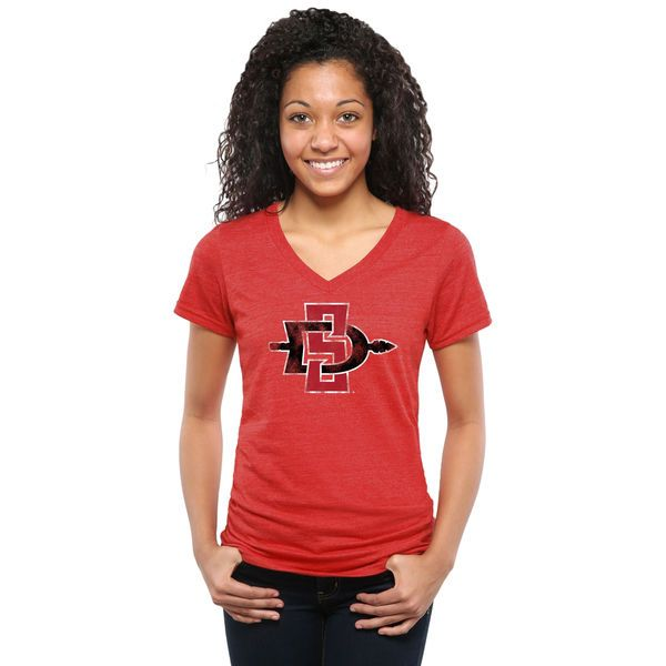 San Diego State Aztecs Women's Classic Primary Tri-Blend V-Neck T-Shirt - Red - $24.99