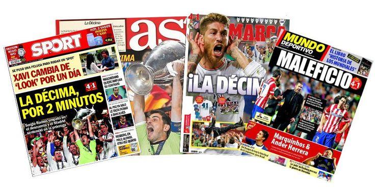 Las portadas de los principales diarios deportivos