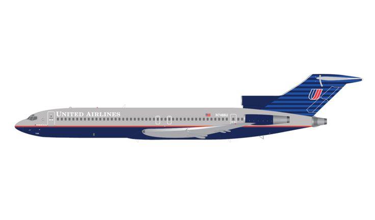 1/200 GeminiJets United Airlines Boeing 727-200 Diecast Model