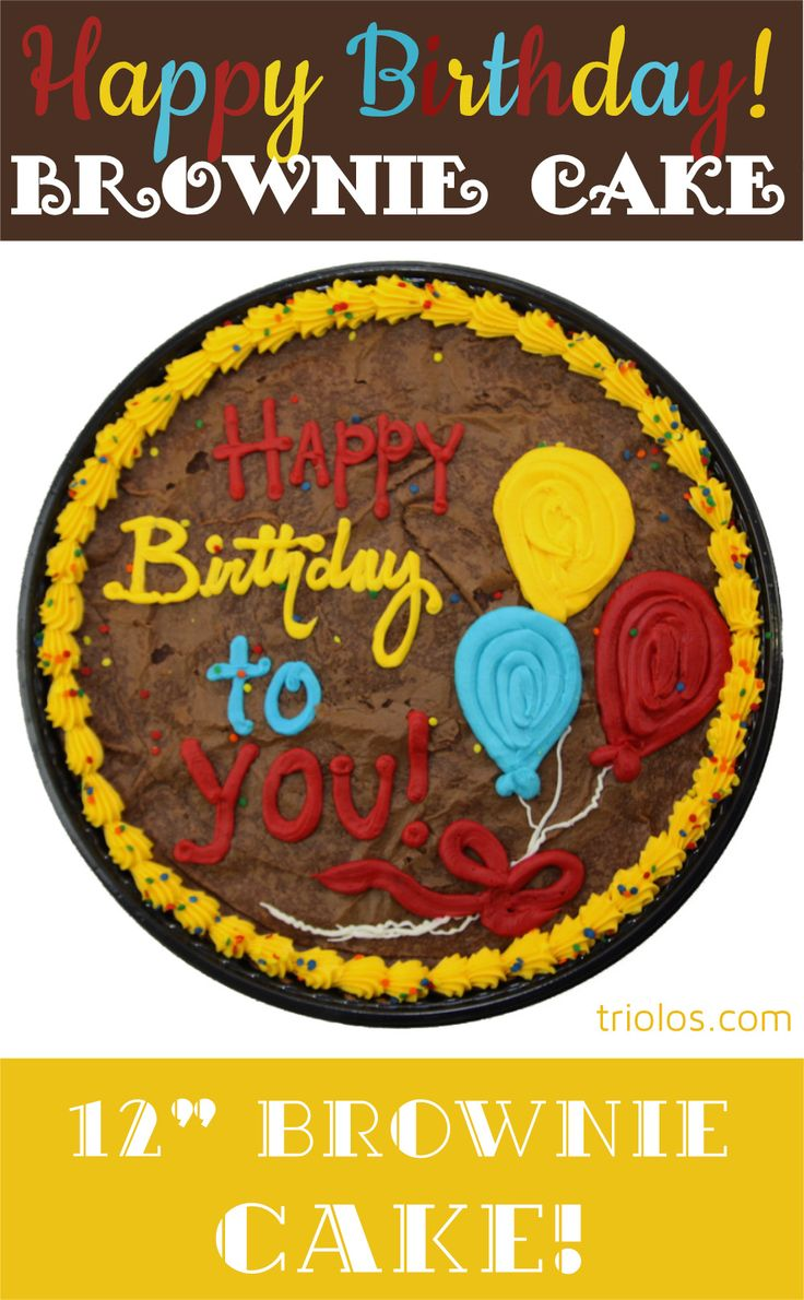 Send a delicious Happy Birthday To You Brownie Cake to a lucky birthday boy or girl. We took our classic Chewy Brownie recipe and put it in a 12″ pan. Decadent chocolate topped with a beautiful design makes this Brownie Cake a gourmet gift.