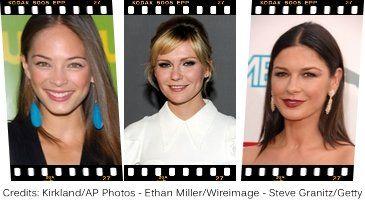 Celebrities with Round FAce Shape, Kristin Kreuk, Kristen Dunst, Catherine Zeta-Jones