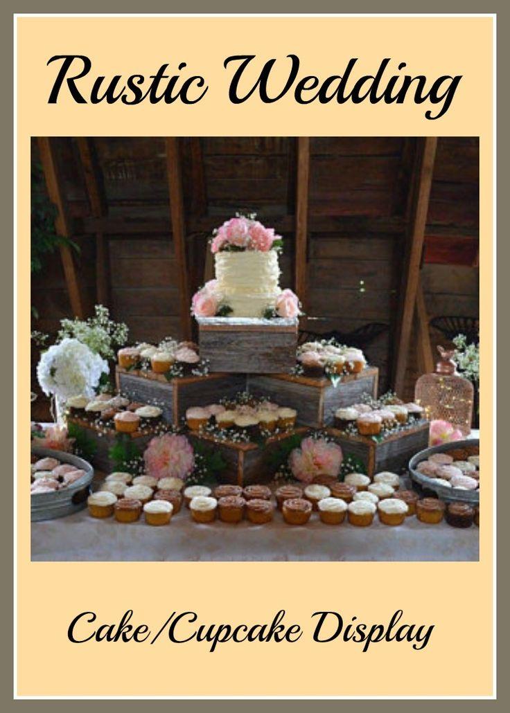 Rustic Cake Stand 10in - 21in , rustic wedding cake stand , wood cupcake stand , rustic wedding , wedding decorations , rustic cupcake stand. #rusticwedding #rustic #weddingideas #weddingcakes #ad
