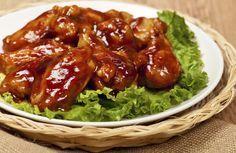 Alitas de pollo en salsa barbecue