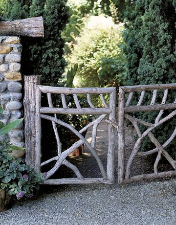 Different types of wooden fence designs woodworking for Garden getaway designs