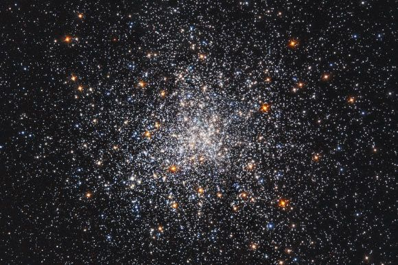 This NASA/ESA Hubble Space Telescope image shows a globular star cluster called Messier 79.