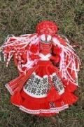 Yarn doll: head decorations and hair
