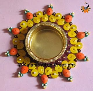 Quilled T-Lite candle holder - Visit http://www.kalanirmitee.com