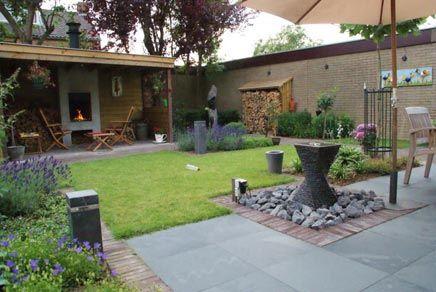 Vuurkolf inrichting cool garden design ideas pinterest met and tuin - Landscaping modern huis ...