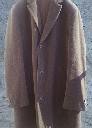 b363e39d20c98 Klasyczny męski wełniany płaszcz Hugo Boss