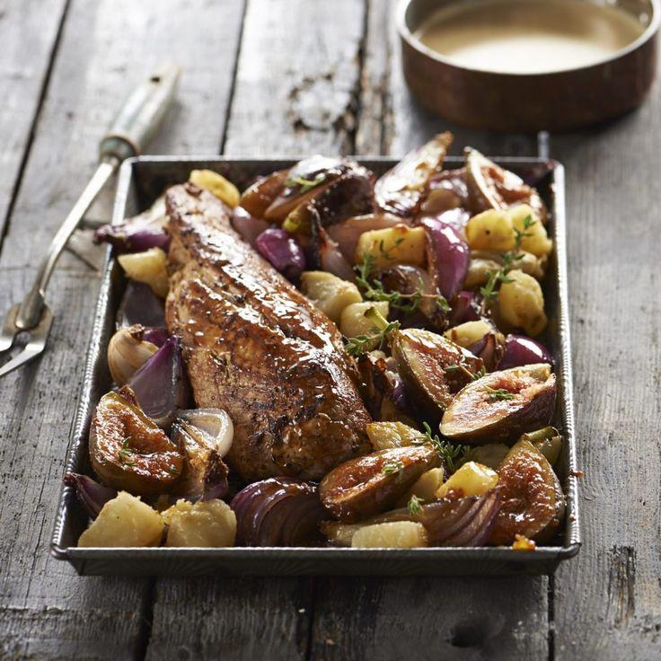 Roast Pork with caramelised figs