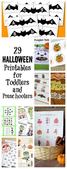 Halloween printables for toddlers and preschoolers.