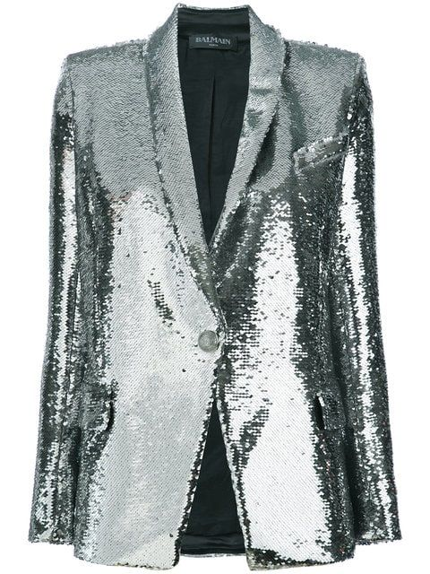 33b6b941 Balmain Sequin-embellished Blazer - Farfetch | outfits in 2019 ...
