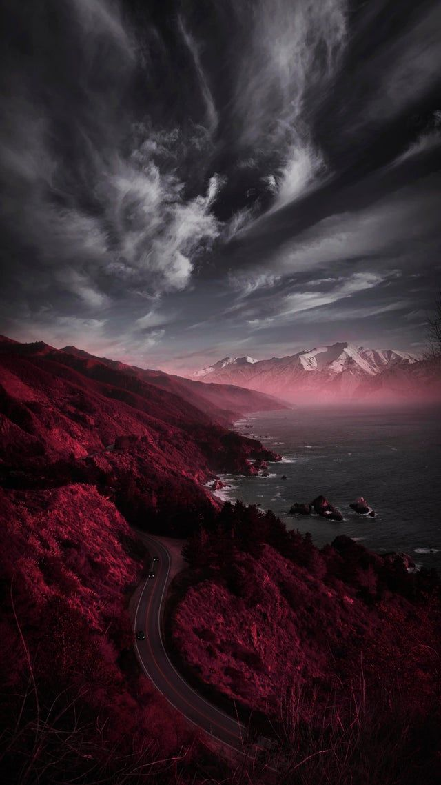 Reddit Iwallpaper Made An Edge Illuminating Wallpaper Only Fits Iphone 11 Pro Max In 2021 Iphone Wallpaper Landscape Red Forest Aesthetic Wallpaper Dark Best ipad pro backgrounds reddit