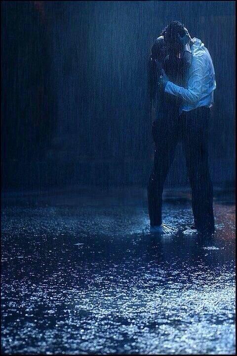 Kissing in the rain   ...