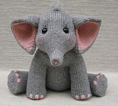 Baby Elephant Knitting Pattern