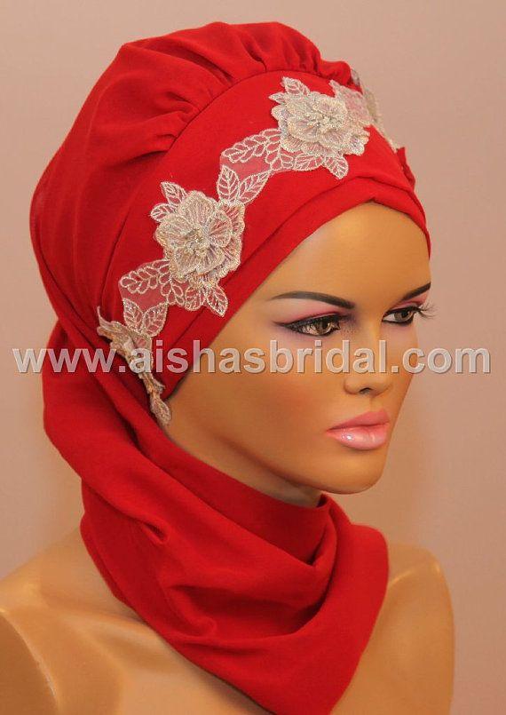 Ready To Wear Hijab  Code HT0078 by HAZIRTURBAN on Etsy, $41.00