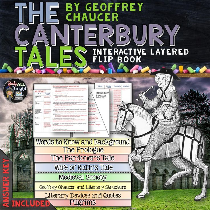 THE CANTERBURY TALES: INTERACTIVE LAYERED FLIP BOOK READING LITERATURE GUIDE ($)