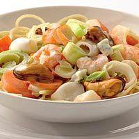Recept - Spaghetti met romige zeevruchten - Allerhande