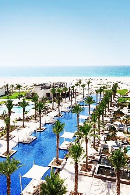 Spend your day basking beside one of four swimming pools, or on Saadiyat Beach. Photo courtesy of our guest @leandrocasteloo on Instagram. {Park Hyatt Abu Dhabi Hotel & Villas}