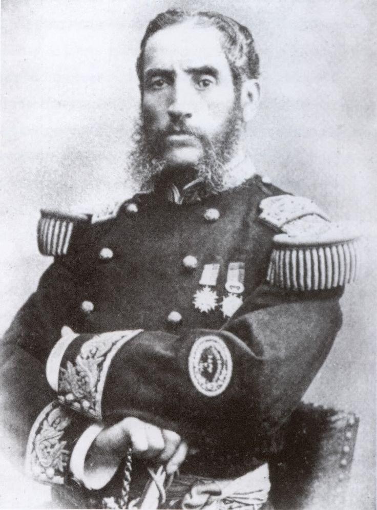 GENERAL ANDRES AVELINO CACERES DORREGARAY- Actuo en Tarapaca, donde a pesar de vencer debio retirarse, posteriormente en la Campaña de la Breña, creo partidas guerrilleras en el Valle de Mantaro, fu