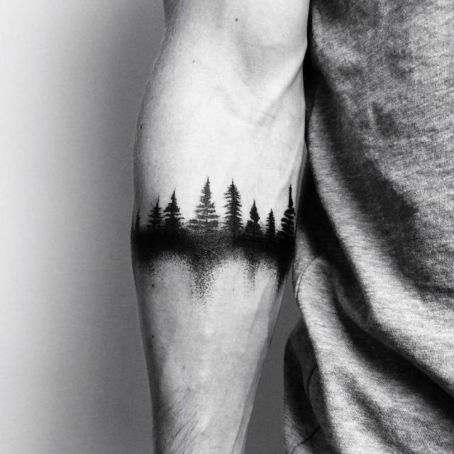 40 Kreative Forest Tattoo Designs und Ideen