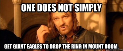 Image result for meme throw the ring into mount doom