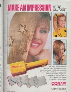 Conair's Impressions crimper.  Stars and hearts! #80s #hair
