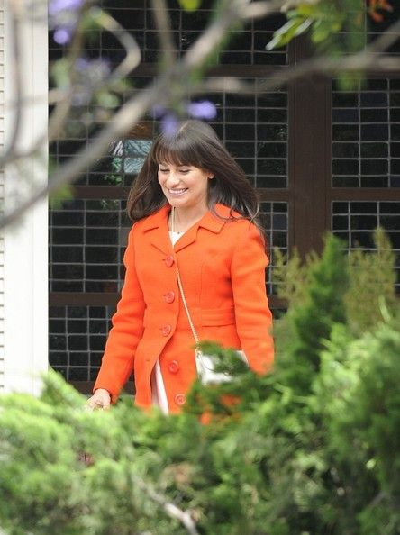 Lea Michele - Leah Michele on the Set of 'Glee'