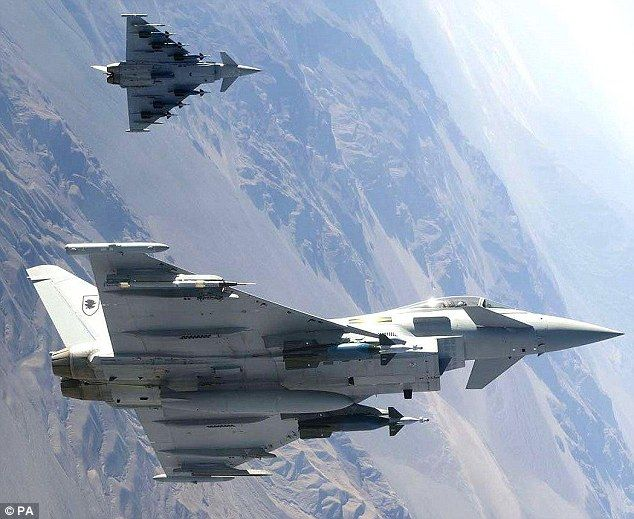 September 19, 2014 -    The interception, which involved two Typhoon jets pictured, was the first time a Quick Rea...