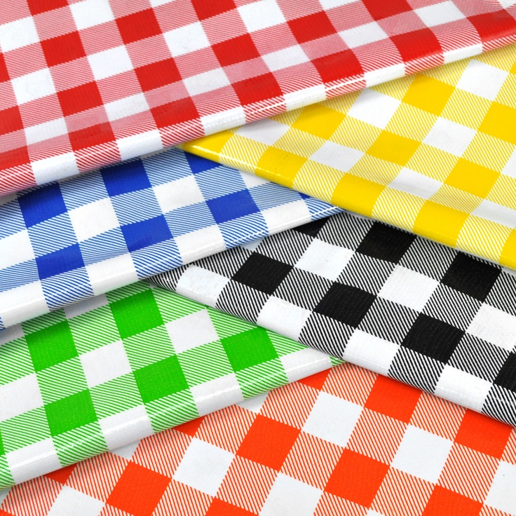 Gingham Oilcloth For Outdoor Picnics And Barbeques Red