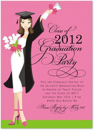 ladies graduation invitations glamour girl graduation 22217 i