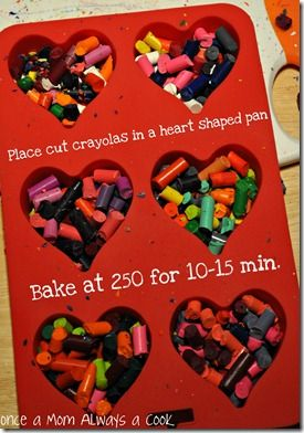 Snow day craft to help get rid of broken crayons...