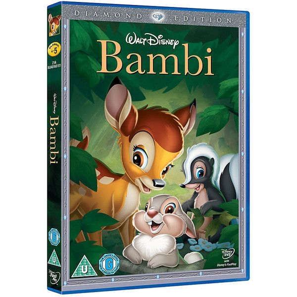 Bambi DVD ($73) ❤ liked on Polyvore featuring movies, disney, dvd, electronics and etc