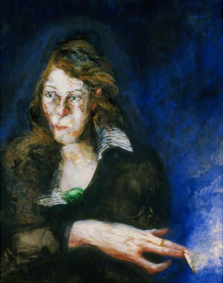maggi hambling(1945- ), catherine parkinson. oil on canvas, 82.8 x 67.7 cm. southampton city art gallery, uk http://www.bbc.co.uk/arts/yourpaintings/paintings/catherine-parkinson-17554