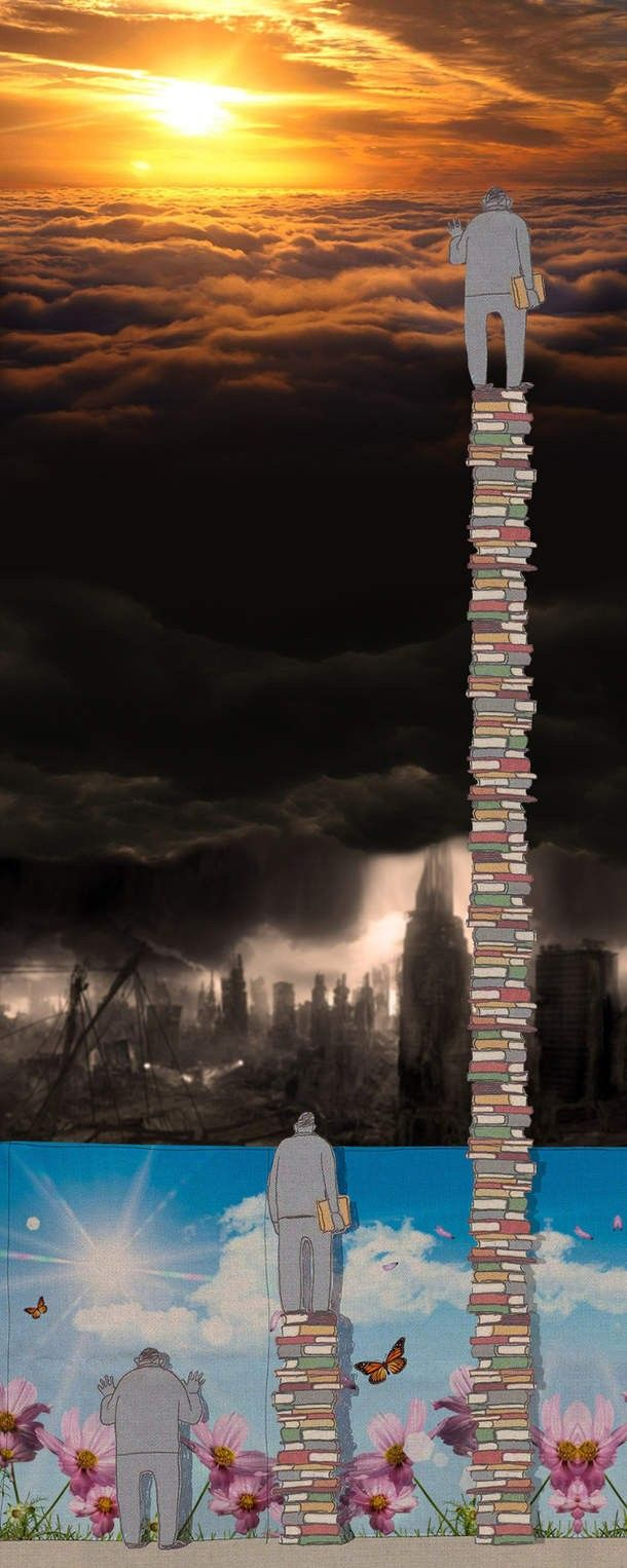 Powerful depiction of the concept of knowledge.