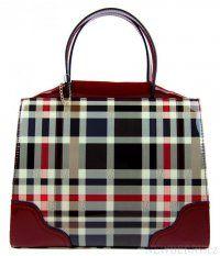Luxusní červená lakovaná kabelka do ruky F488A Tom&Eva