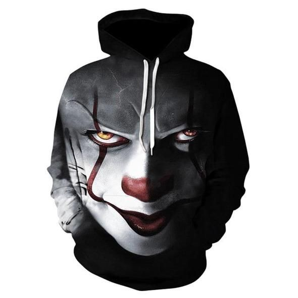 Women Halloween Cosplay Costume Hoodie Hooded Sweatshirt Pullover Shirts Tops