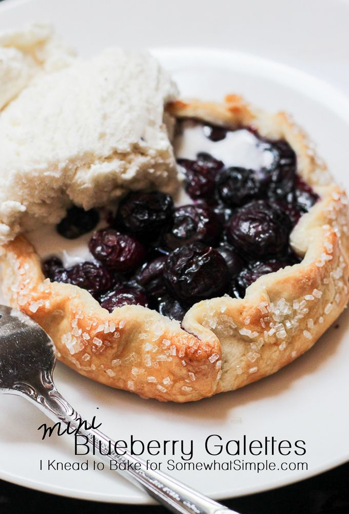Easy Blueberry Galette Recipe- Perfect dessert for large groups via www.SomewhatSimple.com