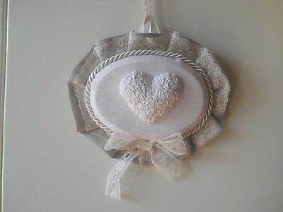 Bomboniera Shabby Chic matrimonio scatola plexiglass gessetto cuore cod. 431E - 431Ebis - 432Ebis
