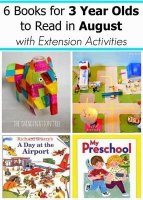 August Book Picks for 2 and 3 Year Olds with Extension Activities #readingactivities