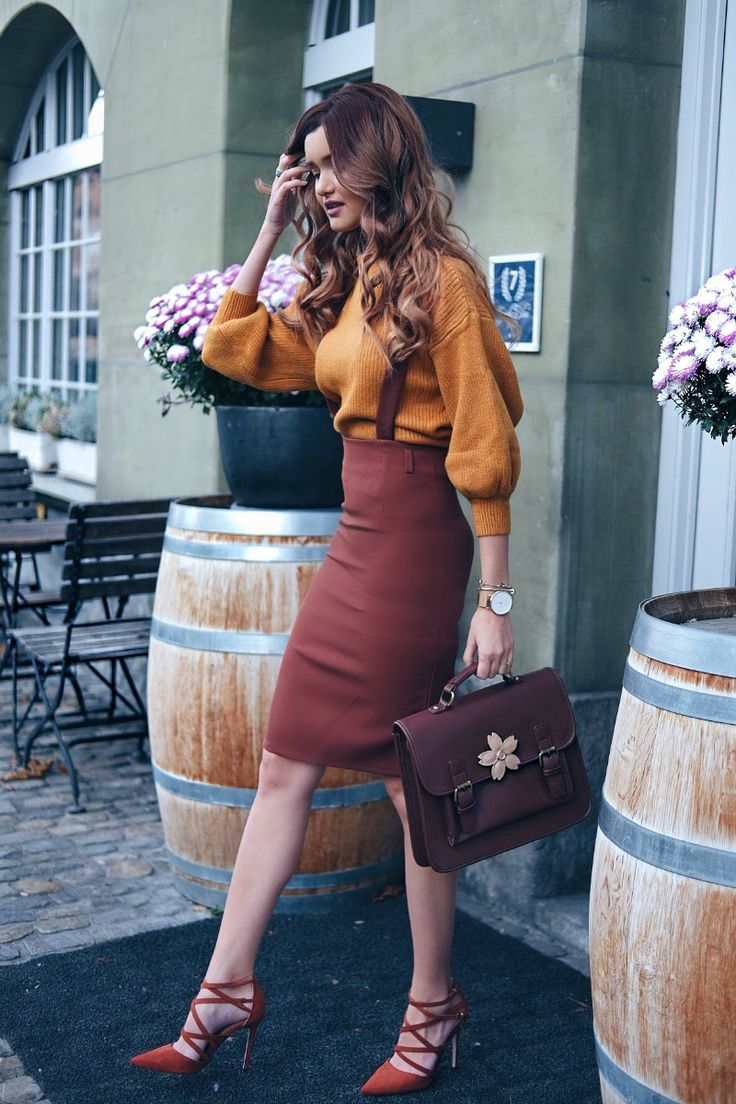 Buckle-Strap-Sakura-Satchel-Bag-pencil-skirt-and-yellow-sweater-for-dinner.jpg