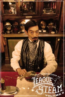 leagueofsteam:    Grant Imahara from Mythbusters as Sir Angus De Cranium in a new thrilling new episode of The Adventures of the League of S.T.E.A.M.  Wardrobe provided by Clockwork Couture  Thursday March 1st!: Grant Imahara, Steampunk Fashion, Steampunka Man Ia, Steampunk Infinity, Steampunk Lad, Steampunk Friends, Curat Steampunk, Steam Punk, Steampunk Repin