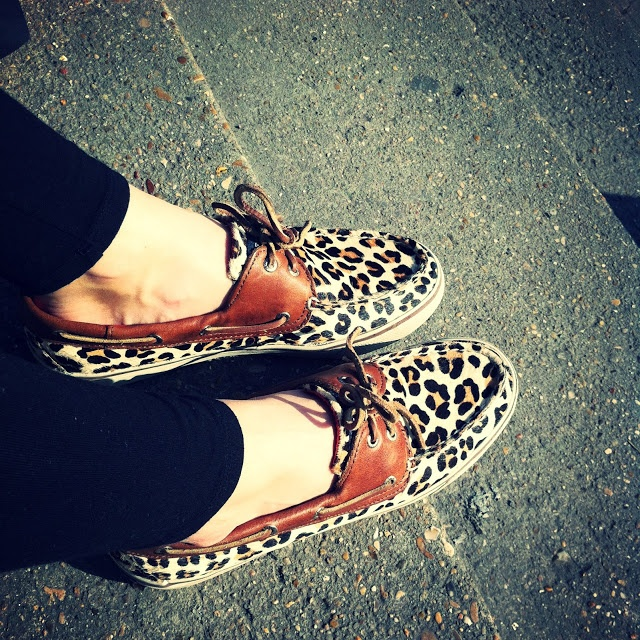 Leopard sperrys... I have these :))) Love them!