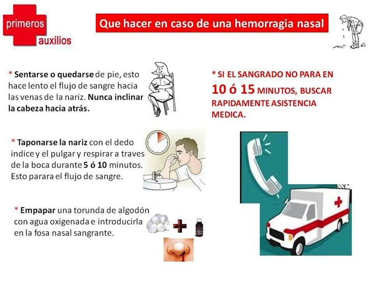 Consejos ante una hemorragia nasal