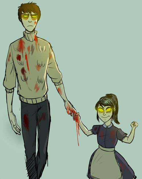 Jack And Little Sister Bioshock But Its Just Elizabeth