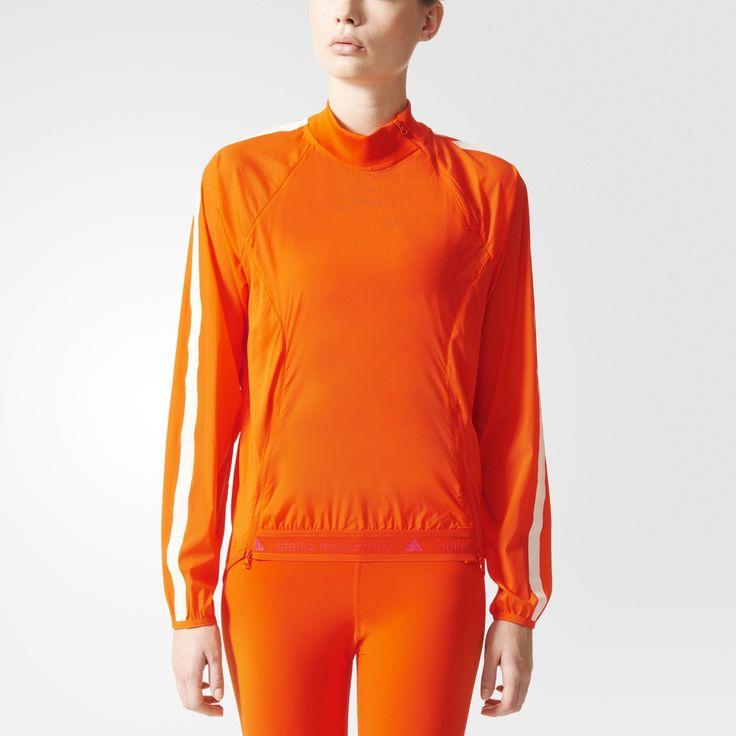 Die adizero Pull-On Jacke von adidas by Stella McCartney verbindet federleichtes, stretchiges Webmaterial und atmungsaktives Mesh mit Python-Muster zu einer perfekten windabweisenden Lage für deine Fahrrad-Touren und Läufe im Freien.