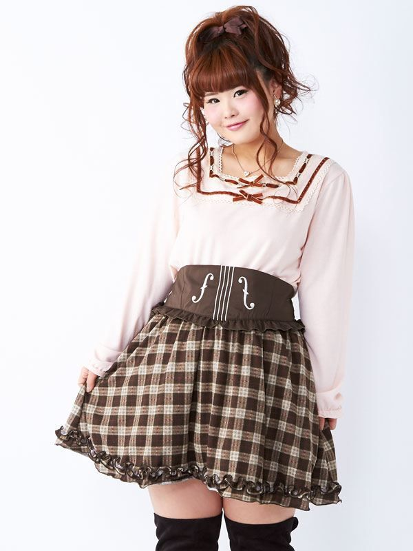 dreamv | Rakuten Global Market: -Reservation-[West Busche wind violin embroidery ♪ classical check skirt | PL | PP | |] ◆ 12 / 29 delivery appointment