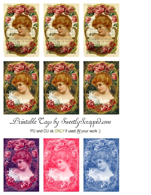 Sweetly Scrapped: Free Printable Victorian Lady Tags...